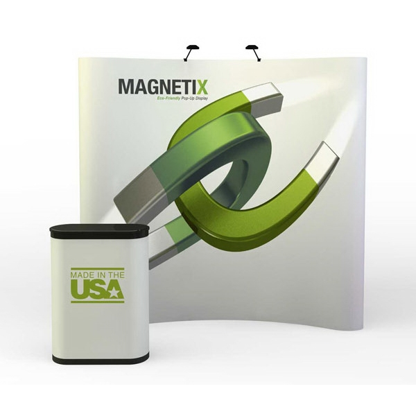 Magnetix curve all graphic kit (8 ft) - 8 ft. complete curved graphic pop-up display kit. Free Ground Shipping - 48 states.