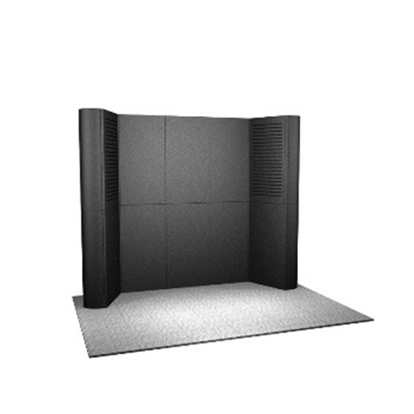 Laminate Panel Display System - Laminate 10ft. panel display system, back wall and two top loading cases.
