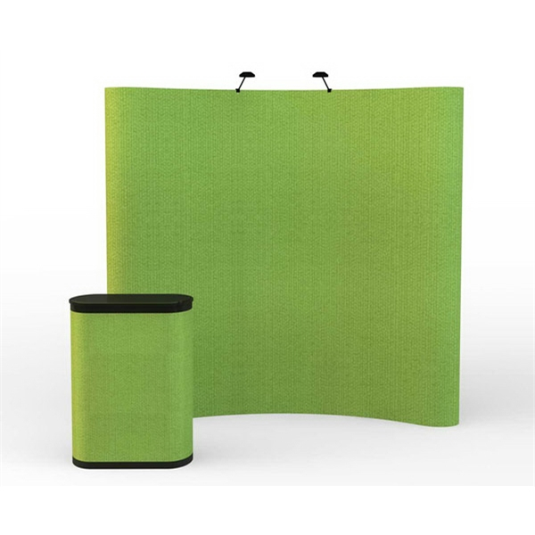 Magnetix all fabric kit (8 ft) - 8 ft. curved display kit with 5 fabric panels, case and lights.