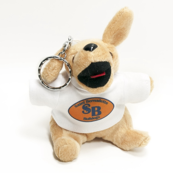 "4"" Yellow Labrador Key Chain with t-shirt,full color imprint"