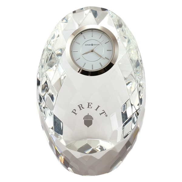 Rhapsody - Optical Glass Crystal Tabletop Clock Photo