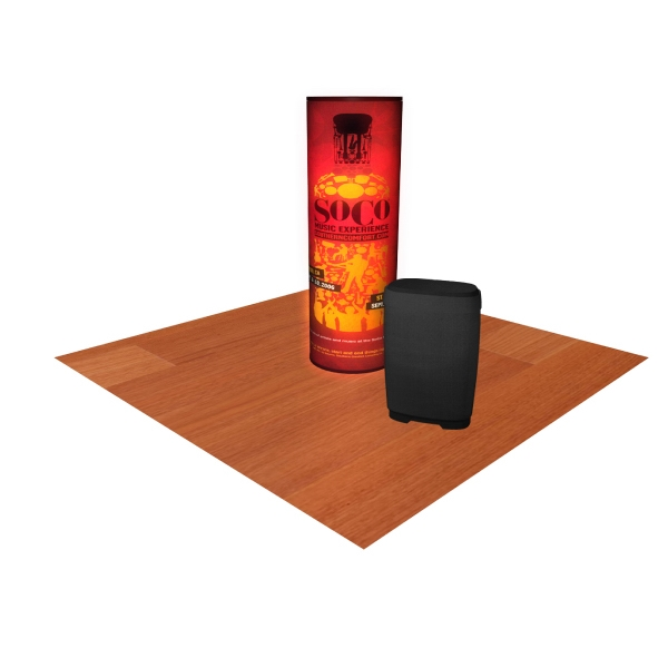 PL Tower - Back Light Package - Tower display back lit package with 3-back lit graphic mural panels.