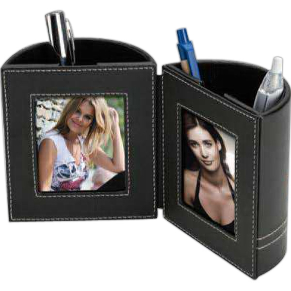 Pen Holder with Photo Frames