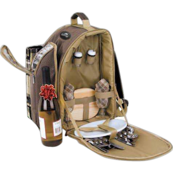 Eco-lifestyle (tm) - Two Person Picnic Set With Padded Adjustable Backpack Straps Photo