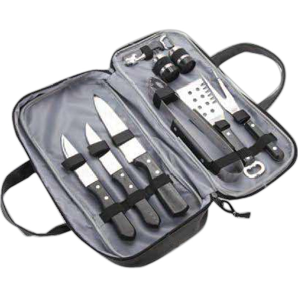 9 Piece Barbecue Set with Lichee Compact Bag