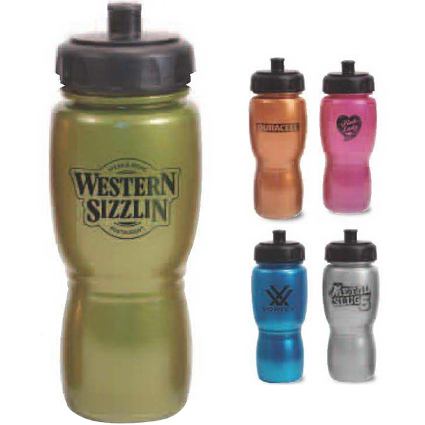 Green - Metallic Polysaver Bottle, 18 Oz Photo
