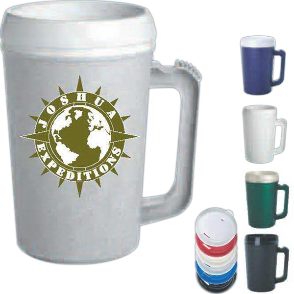 White - Bpa Free Plastic 22 Oz. Jumbo Mug. Made In The Usa Photo