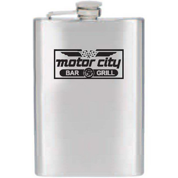 8 Oz - Stainless Steel Flask With Double Wall Photo