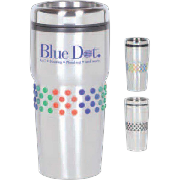 Prime Polka Dot Tumbler - Stainless Steel/plastic Polka Dot Tumbler, 16 Oz Photo