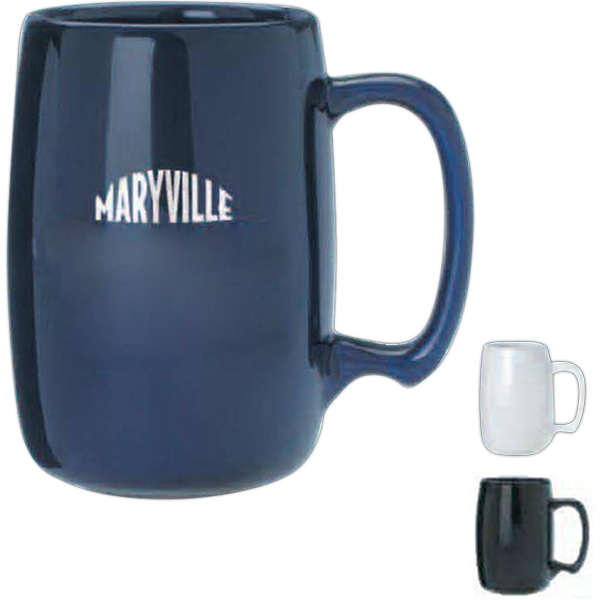 Barrel - Blue - Sixteen Ounce Ceramic Barrel Mug Photo
