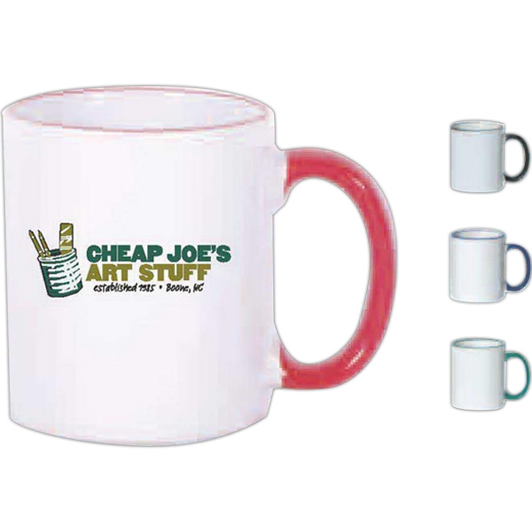 Green - Stoneware Color Band Mug, 11 Oz Photo