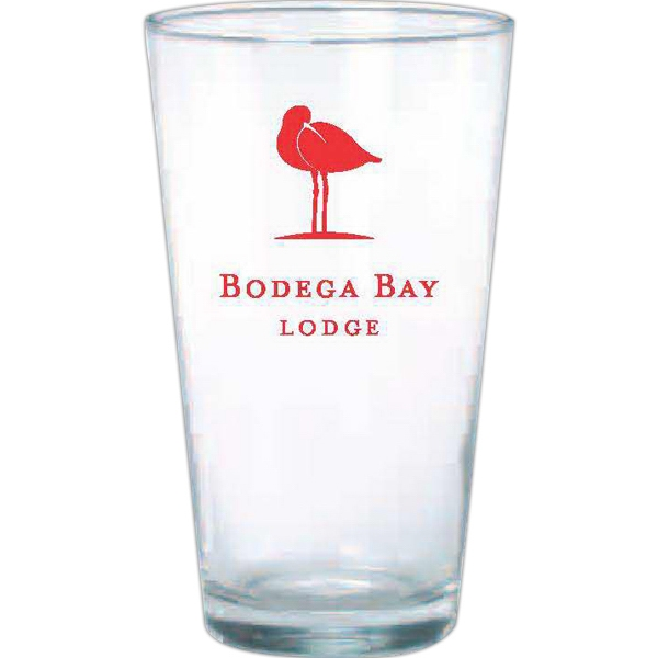 Sixteen Ounce Clear Glass Pint Glass Photo