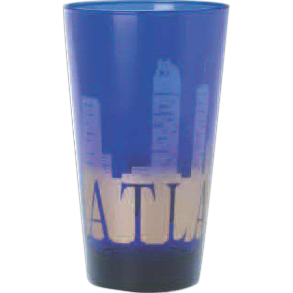 Blue Pint Glass, 16 Oz Photo