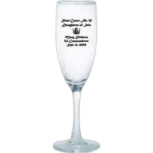Fluted Champagne Glass, 5 3/4 Oz Photo