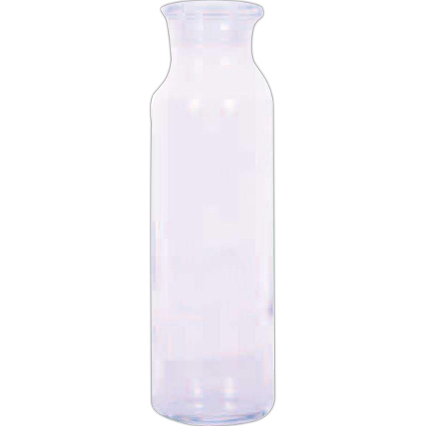 24 Oz Clear Glass Bottle With Straight Sides And Lid Photo