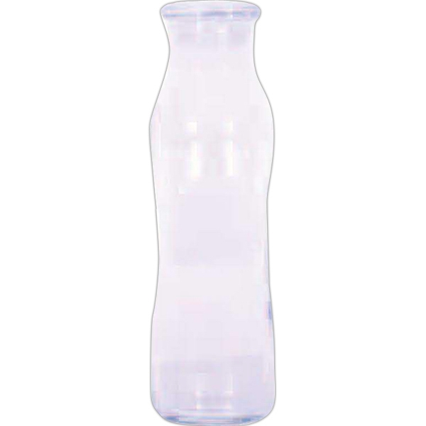 24 Oz Clear Glass Hydration Bottle With Lid And Easy Grip Hourglass Shape Photo