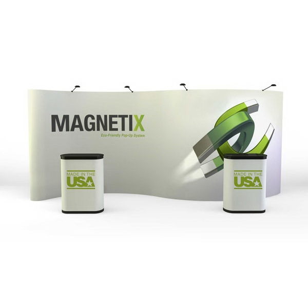 Magnetix serpentine all graphic kit (20 ft) - 20 ft. serpentine pop-up display kit with 11 graphic panels, lights, cases
