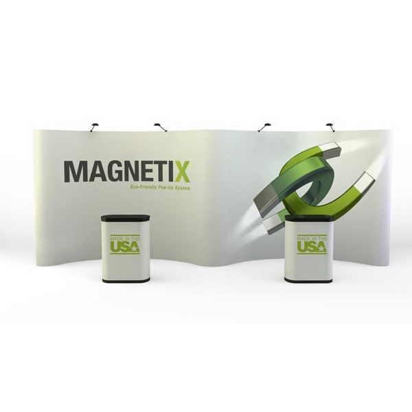 Magnetix gullwing all graphic kit (20 ft) - 20 ft. curved display kit comes with 11 graphic panels.