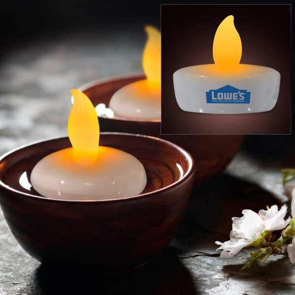 Amber Water Activated Floating Candle Flickering Ligh