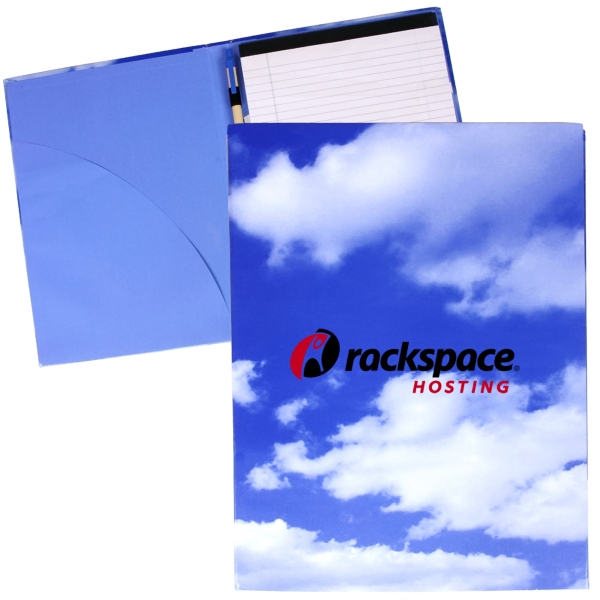 Recycled Chipboard Padfolio With Full Color Cloud Stock Art Front And Back Covers Photo