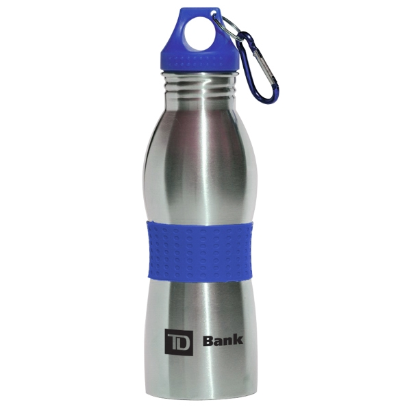 Stainless Steel 21 Oz Bottle W/Carabiner