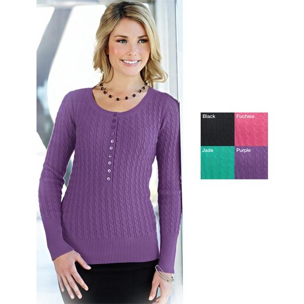 Audrey - Women's Long Sleeve Henley Sweater