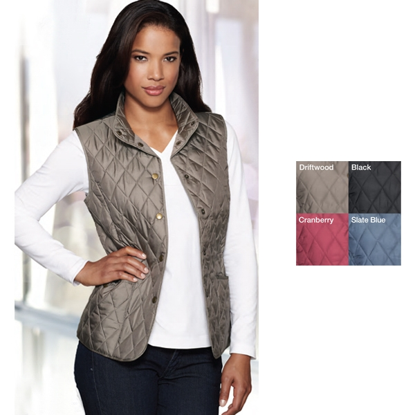 Bailey Lilac Bloom (r) -  X S- X L - Women's Windproof/water Resistant Lightweight Quilted Vest Photo