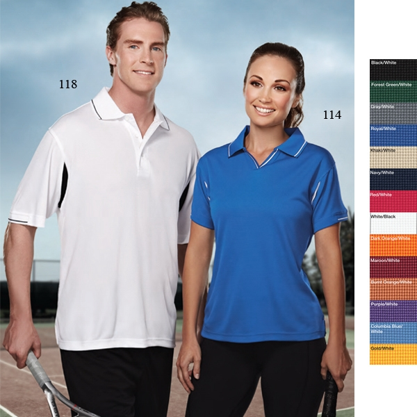 Movement Performance (tm) -  X S -  X L - Women's 6.5 Oz 100% Polyester Waffle Knit Golf Shirt Photo