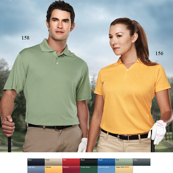 "Vision Performance (tm) - 2 X L - Women's 5.5 Oz 100% Polyester Pique Golf Shirt With One-button ""y"" Neckline Photo"