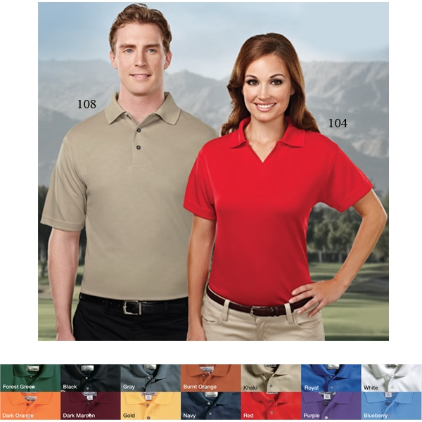Ambition Performance (tm) -  X S -  X L - Women's Spun Polyester Micromesh Golf Shirt With A Johnny Collar Photo