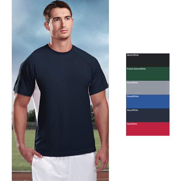 Energy Performance (tm) - 3 X L - Men's Moisture Wicking Polyester Micromesh Crewneck Shirt Photo