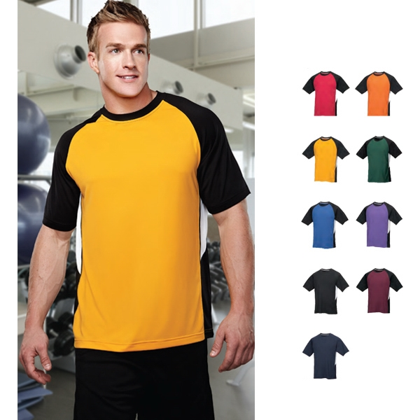 Performance (tm) Tiger - S- X L - Men's Tri-color Moisture Wicking Crewneck Shirt Photo