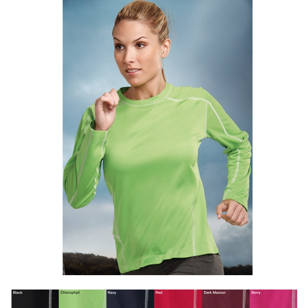 Lady Fulcrum Performance (tm) -  X S- X L - Women's Long Sleeve Shirt Featuring Ultracool (r) Moisture Wicking Technology Photo