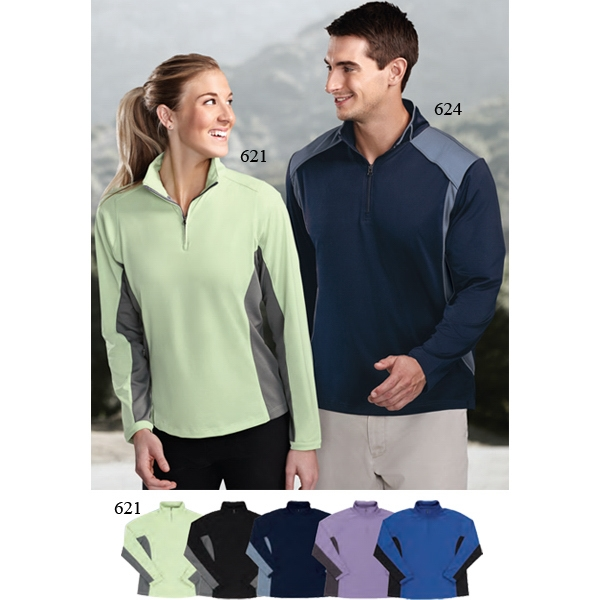 Dash Performance (tm) -  X S -  X L - Women's 6 Oz 100% Polyester 1/4 Zip Pullover Shirt Photo