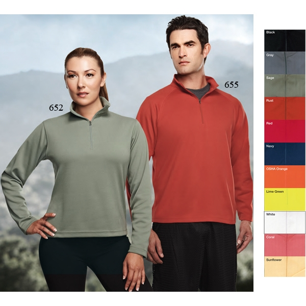 Mission Performance (tm) - 3 X L - Women's 6.3 Oz 100% Peached Polyester Pique 1/4 Zip Pullover Shirt Photo