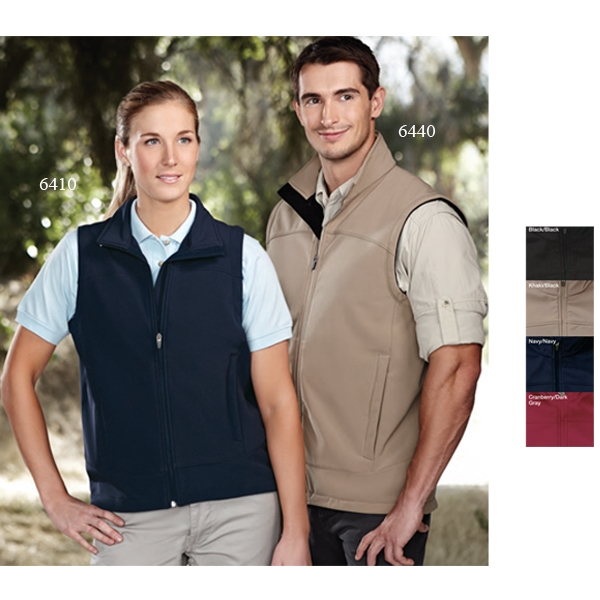 Zenith Performance (tm) - 2 X L - Men's Soft-shell Vest Accented With Front Zippered Pockets Photo