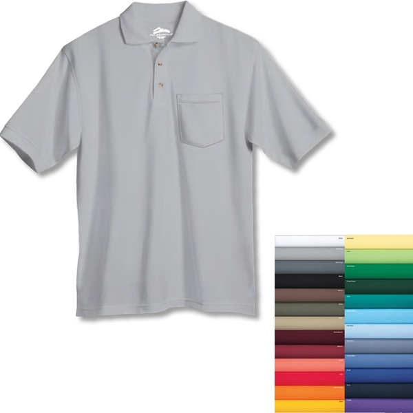 Element Ltd. - 3 X Lt - Men's Short Sleeve Easy Care Pique Golf Shirt With Pocket Photo