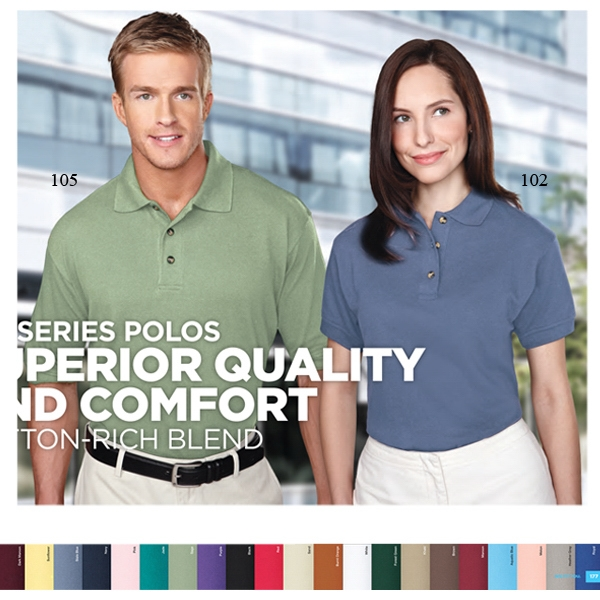 Profile - 5 X L - Men's Short Sleeve Pique Golf Shirt With Clean-finished Placket Photo