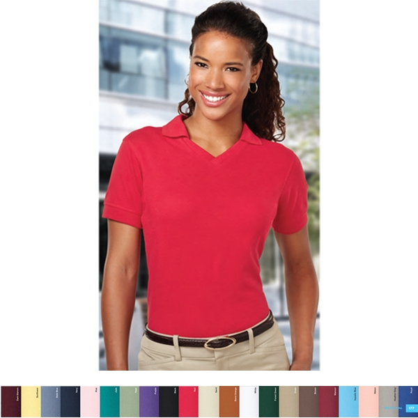 Venice -  X S- X L - Women's 7 Oz Short Sleeve Pique Knit Golf Shirt Photo