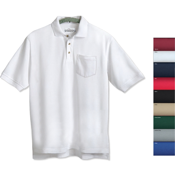 Engineer - S -  X L - Men's Pique Golf Shirt With Three Horn Buttons And A Pocket Photo
