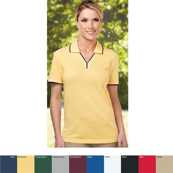 Journey - 2 X L - Women's 7.8 Oz Golf Shirt With Two-tone Trim Johnny Collar And Cuffs Photo