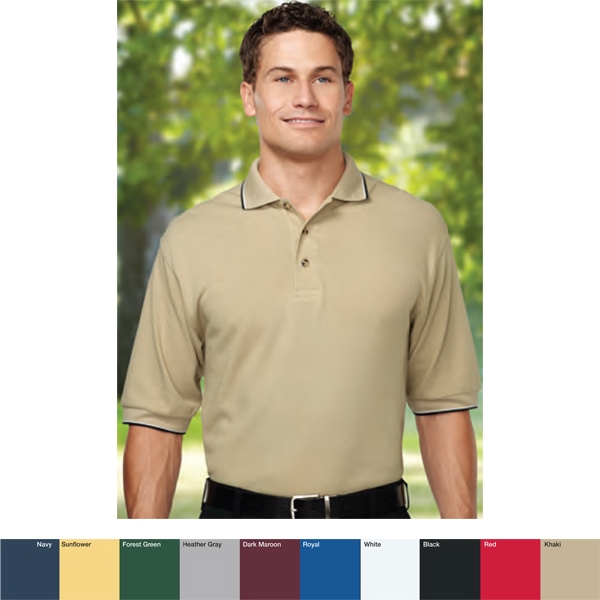 Pursuit - S -  X L - Men's 7.8 Oz Golf Shirt With Two-tone Trim Collar And Cuffs Photo