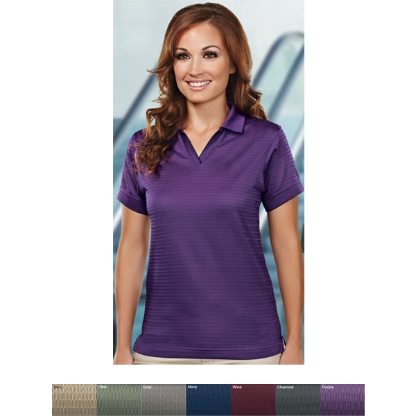Aura -  X S -  X L - Women's 4.7 Oz 100% Microfiber Polyester Johnny Collar Golf Shirt Photo
