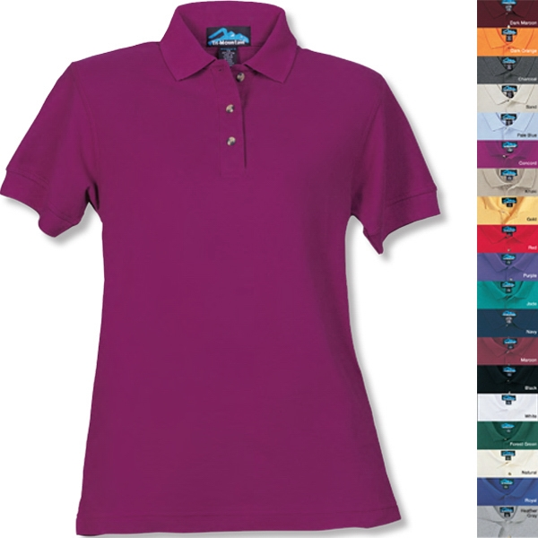Autograph -  X S -  X L - Women's Golf Shirt With 3 Horn Buttons In Reversed Placket Photo