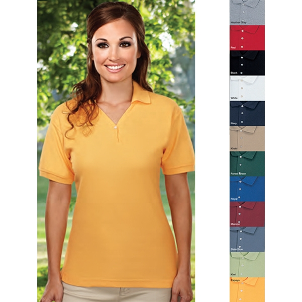 Stature -  X S -  X L - Women's Golf Shirt With Pearl Button And Square Bottom With Side Vents Photo