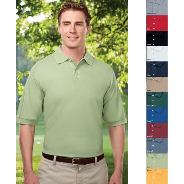 Caliber - 4 X L - Men's Golf Shirt With Three Pearl Buttons And Extended Tail Photo