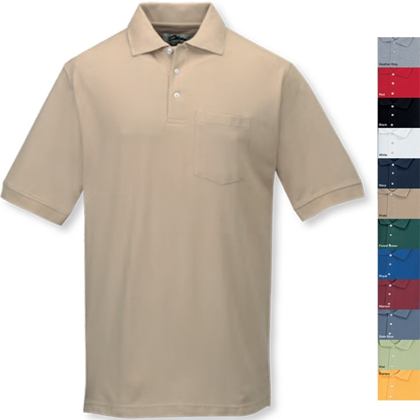 Caliber Ltd - 2 X L - Men's Golf Shirt With Clean-finished Placket And Bottom Hem With Side Vents Photo