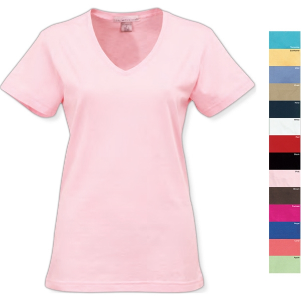 Appeal - 2 X L - Women's V-neck Short Sleeve Knit Shirt Photo