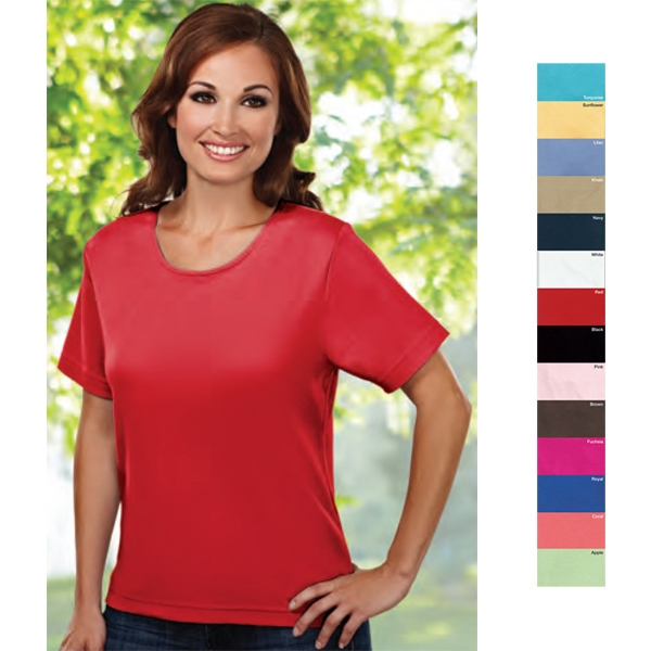 Spirit (r) - 4 X L - Women's 7.7 Oz 100% Combed Cotton Interlock Short Sleeve Knit Shirt Photo
