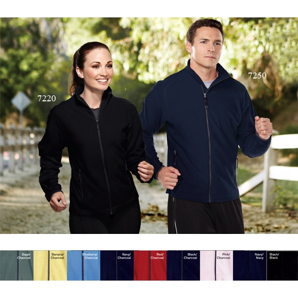 Instinct - 2 X L - Men's Fleece Jacket With Contrast Piping And Nylon-bound Cuffs Photo